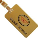 Solid Brass Luggage Tag Luggage Tags