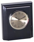 Black Marble Desk Clock Marble Awards