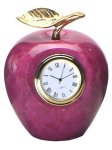 Red Apple Clock Marble Clocks