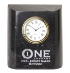Black Marble Mini Clock Marble Clocks