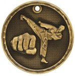 3D Martial Arts Medal Martial Arts Trophies