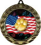 Colorful Paw Insert Medal Mascot Medals