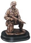 Soldier Kneeling With Rifle Down Military Awards