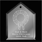 Wreath Christmas Ornament Mirror Christmas Ornaments | House