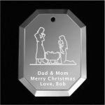 Manger Christmas Ornament Mirror Christmas Ornaments | Octagon