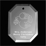 Dove Christmas Ornament 2 Mirror Christmas Ornaments | Octagon