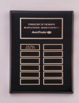 Black Piano-Finish Perpetual Plaque Monthly Perpetual Plaques