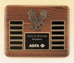 Eagle American Walnut Perpetual Plaque Monthly Perpetual Plaques