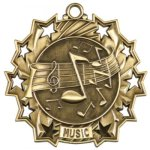 Ten Star Music Medal Music Medals
