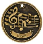 3D Music Medal Music Medals