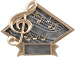 Music Diamond Plate Resin Music Trophies