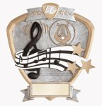 Signature Series Music Shield Award Music Trophies