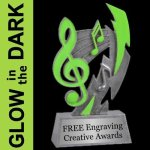 GLOW in the DARK Music Trophy Music Trophies