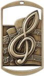 Rectangular Music Medal Music Trophies
