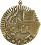 5 Star Music Medal Music Trophies