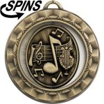 Spinner Music Medal Music Trophies