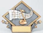 Resin Diamond Plate Music Music Trophies