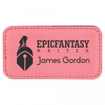 Leatherette Name Badge With Magnet Pink Name Badges