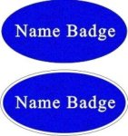 Scratch Resistant Oval Name Badge Name Badges