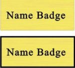 Name Badge with Square Corners Name Badges