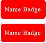Engraved Plastic Name Badge Name Badges