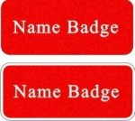 Engraved Textured Plastic Name Badge Name Badges