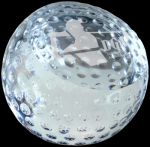 Crystal Golf Ball Paperweight Paperweights