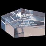 Crystal Pentagon Paperweight Paperweights