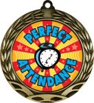 Colorful Perfect Attendance Medal Perfect Attendance Medals