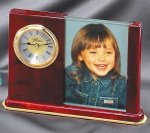 Rosewood Clock Picture Frame Photo Frames