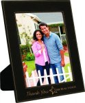 Black Leatherette Picture Frame Photo Frames