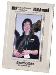 Silver & Glass Picture Frame Award Photo Plaques