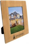 Leatherette Picture Frame -Bamboo Photo Plaques
