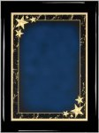 Ebony Blue Star Achievement Plaque Piano Finish Ebony Plaques