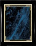 Ebony Blue Marble Mist Plaque Piano Finish Ebony Plaques
