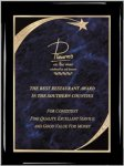 Ebony Blue Star Sweep Plaque Piano Finish Ebony Plaques