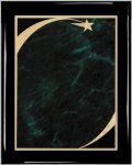 Ebony Green Star Sweep Plaque Piano Finish Ebony Plaques