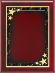 Rosewood Red Star Achievement Plaque Piano Finish Rosewood Plaques