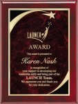 Rosewood Red Star Sweep Plaque Piano Finish Rosewood Plaques