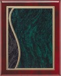 Rosewood Green Swirl Plaque Piano Finish Rosewood Plaques