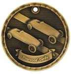 3D Pinewood Derby  Medal Pinewood Derby | Grand Prix Medals