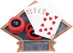 Poker Diamond Plate Resin Poker Awards
