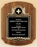 Amercian Walnut Plaque with Metal Frame Premium Award Plaques