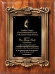 Walnut with Metal Cast Frame Premium Award Plaques