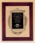 Rosewood Piano Finish Frame Plaque with Cast Relief Premium Award Plaques
