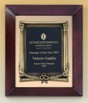 Cherry Finish Wood Frame Plaque with Wreath Premium Award Plaques