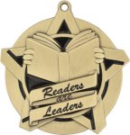 Super Star Readers Are Leaders Medal Reading Medals