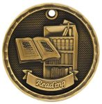 3D Reading Medal Reading Medals