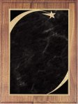 Walnut Plaque - Grey Star Sweep Recognition Plaques