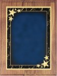 Walnut Plaque - Blue Star Achievement Recognition Plaques